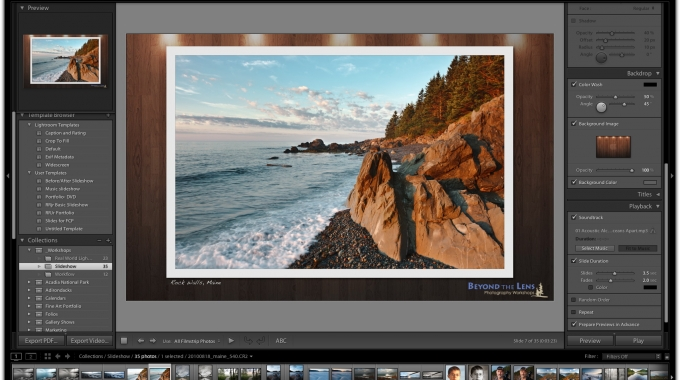 Creating a Before/After Slideshow In Lightroom