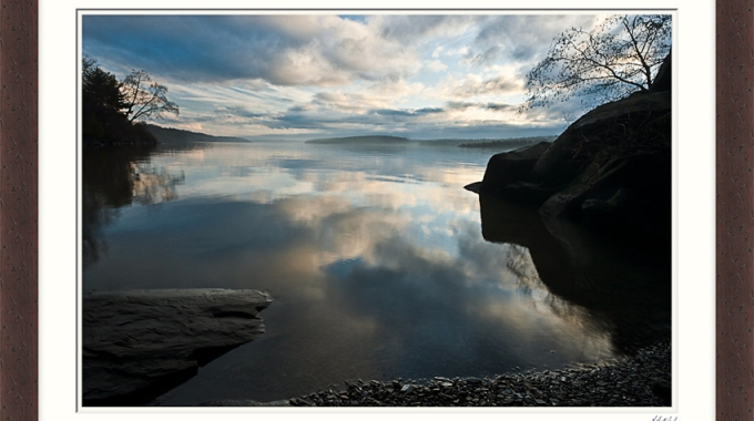 Story Behind the Print-River Reflections, Hudson Valley