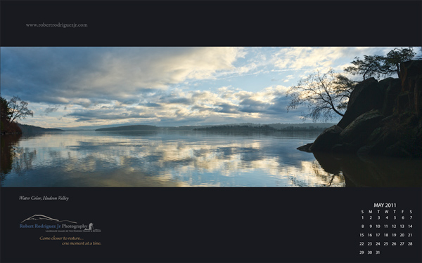 May 2011 Free Desktop Wallpaper – Water Color, Hudson Valley