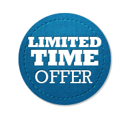 Limited Time Offer - Circle Badge Blue