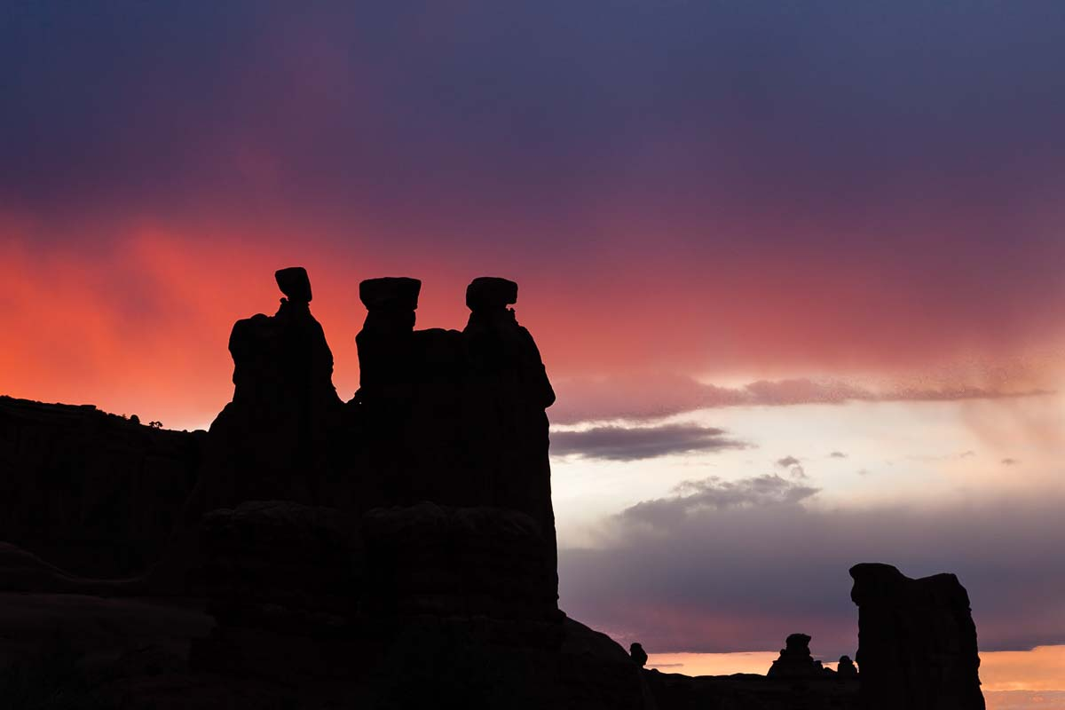 Three Gossips at Sunset, Utah