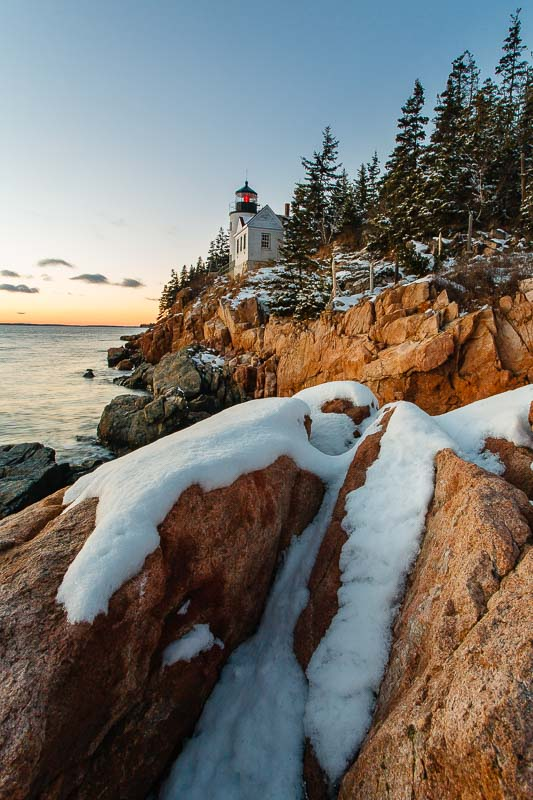 Bass Harbor Snow and Light
