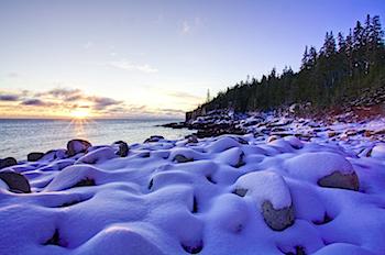 Frosted Coastline, Acadia National Park