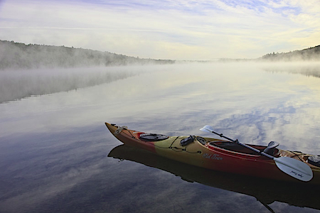 Kayaking on Eighth Lake, Adirondacks