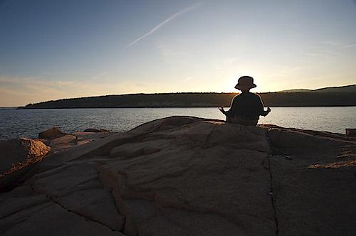 Meditating in Acadia