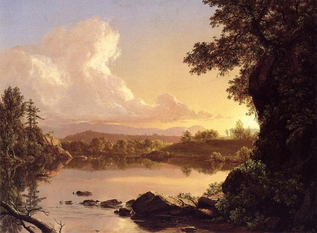Scene on the Catskill Creek - Frederic Chruch
