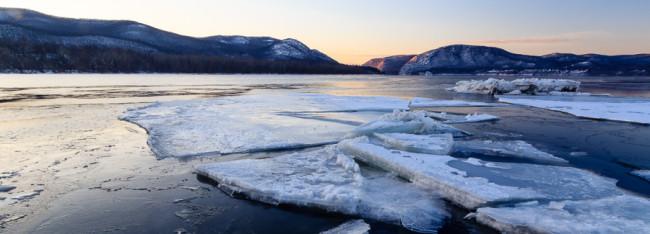 Ice, Hudson River - Dennings Point, Beacon, NY