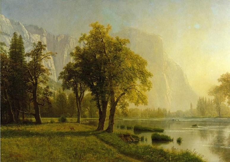 El Capitan, Yosemite - Albert Bierstadt - 1875
