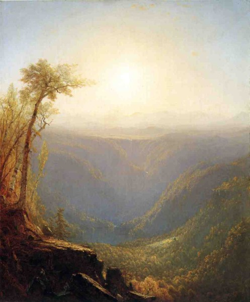 A Gorge in the Mountains - Sanford Robinson Gifford - 1862