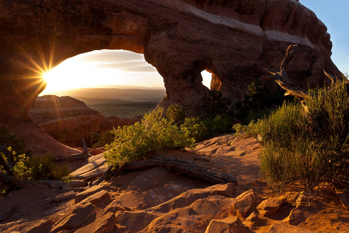 Light at Partition Arch, Utah