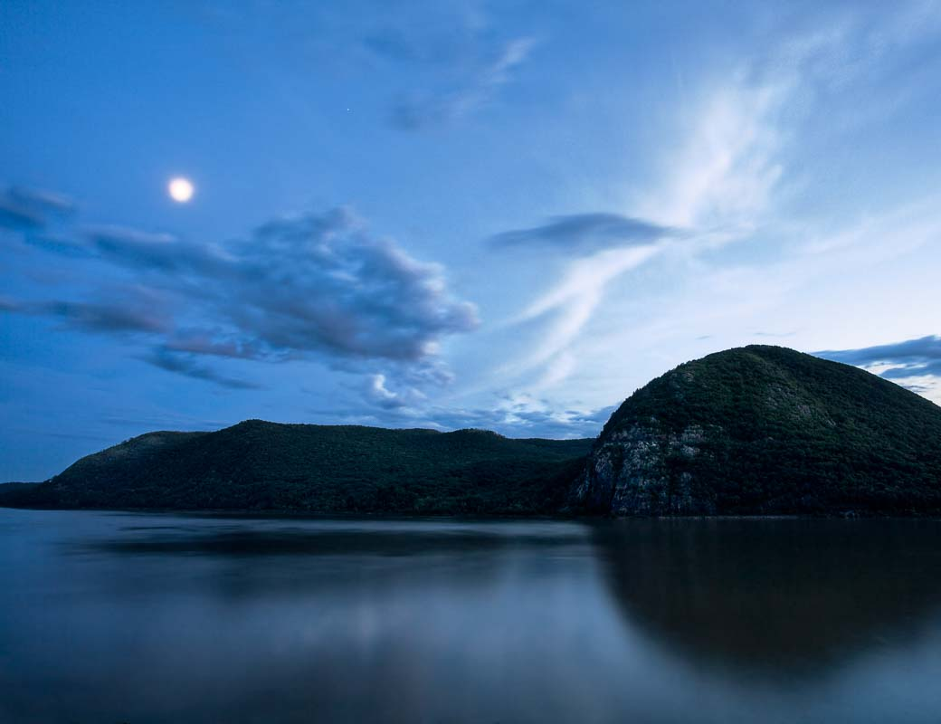 Storm King Twilight, Hudson River