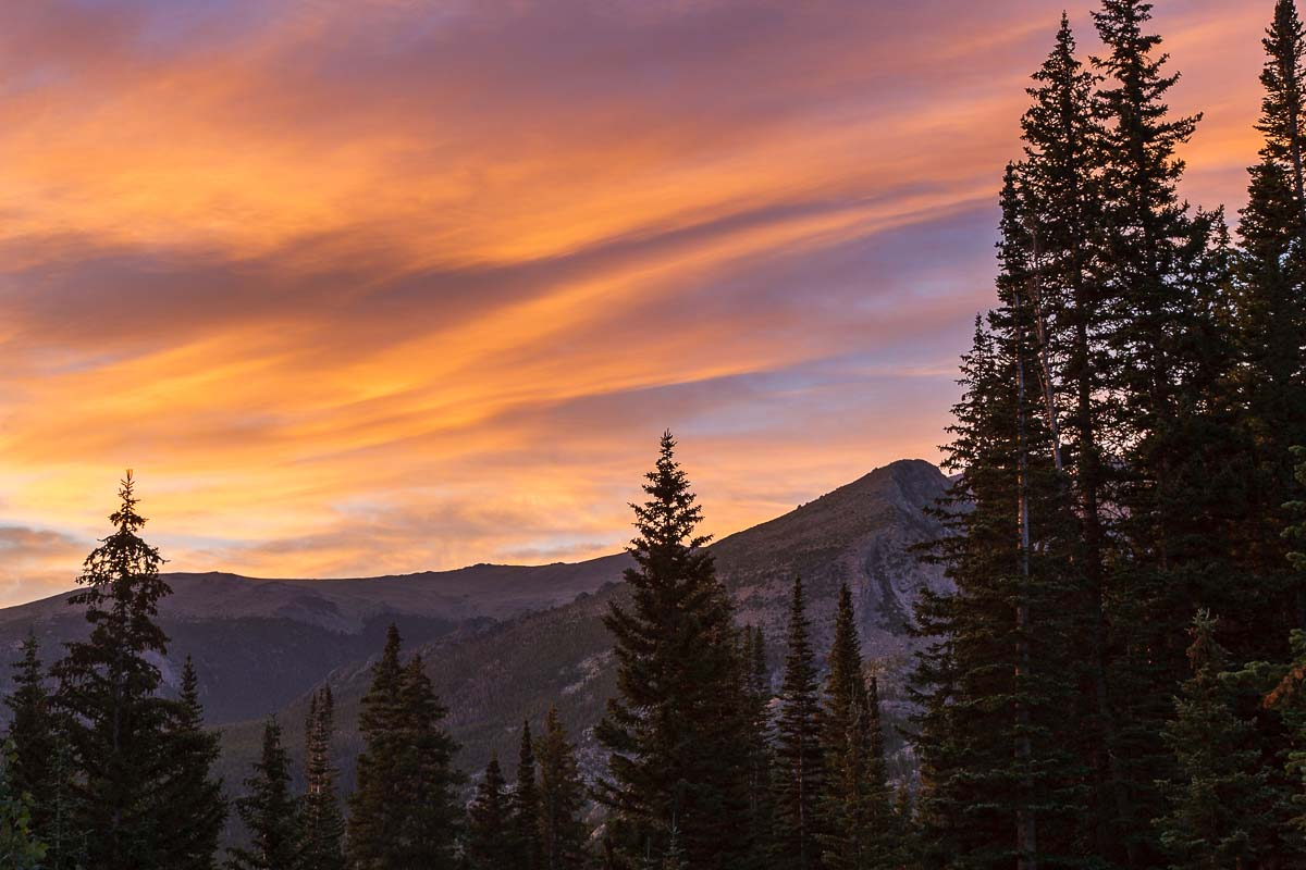 Sunrise in the Rockies, CO