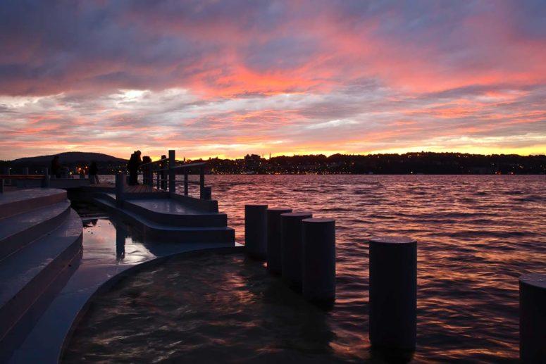 Long Dock Sunset, Hudson River