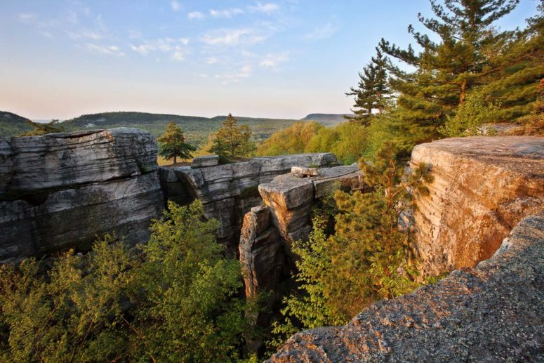 Sunrise at Lost City, Mohonk Preserve
