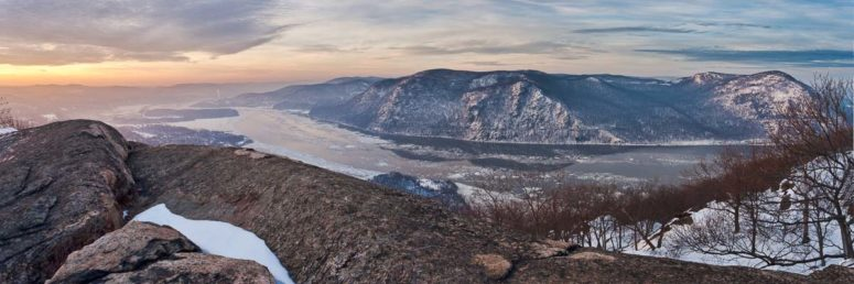 Winter View from Mt Bull, Hudson Valley